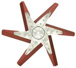 "Derale 18"" High-Performance, Aluminum Flex Fan, Chrome and Red - Belt Driven - 8,000 RPM"