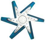 "Derale 17"" High-Performance, Aluminum Flex Fan, Chrome and Blue - Belt Driven - 8,000 RPM"