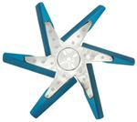 "Derale 18"" High-Performance, Aluminum Flex Fan, Chrome and Blue - Belt Driven - 8,000 RPM"