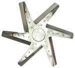 "Derale 17"" Stainless Steel Flex Fan, Chrome - Belt Driven - 8,000 RPM - Reverse Rotation"