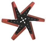 "Derale 17"" High-Performance, Aluminum Flex Fan, Black and Red - Belt Driven - 8,000 RPM"