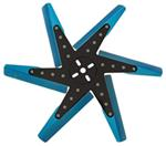 "Derale 18"" High-Performance, Aluminum Flex Fan, Black and Blue - Belt Driven - 8,000 RPM"