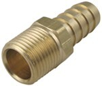 "Derale 3/8"" NPT Male x 1/2"" Barb Straight Hose Fitting"