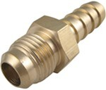 "Derale -6 AN Male Swivel x 3/8"" Barb Hose Fitting"