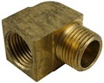 "Derale 1/2"" NPT Female x 1/2"" NPT Male 90-Degree Hose Fitting"
