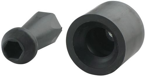 Plastic Stem And Rubber Socket Door Holder 2 Quot Long Stem