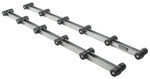 Boat Trailer Deluxe Roller Bunk - 5' Long - 12 Sets of 3 Rollers - by Dutton-Lainson
