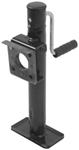 "Pull Pin, Easy Swivel Trailer Jack with Foot - Sidewind - 10"" Travel - 2,000 lbs"
