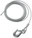 "Hand Winch Cable with Safety Hook 3/16"" Diameter x 25' Long - 1,800 lbs"