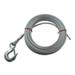 "Hand Winch Cable with Safety Hook 1/4"" Diameter x 25'Long - 2,500 lbs."