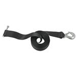 "Hand Winch Strap with Safety Hook, 2"" Wide x 20' Long - 2,600 lbs."