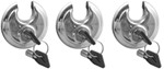 "3-Pack, Keyed-Alike, High-Security, Stainless Steel Padlocks with 3/8"" Diameter"