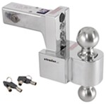 "Self-Locking, Adjustable, Aluminum Ball Mount - 2 Stainless Balls - 4"" Drop, 5"" Rise - 10K"