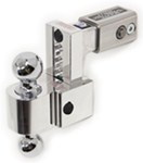 "Self-Locking, Adjustable, Aluminum Ball Mount - 2 Balls, 2-1/2"" Shank, 5"" Rise - 4"" D"