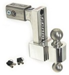 "Self-Locking, Adjustable, Aluminum Ball Mount - 2 Stainless Balls - 6"" Drop, 7"" Rise - 10K"