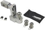 "Self-Locking, Adjustable, Aluminum Ball Mount - 3 Stainless Balls - 6"" Drop, 7"" Rise - 12K"
