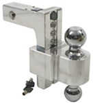 "Self-Locking, Adjustable, Aluminum Ball Mount - 2 Chrome Balls - 8"" Drop, 9"" Rise - 10K"
