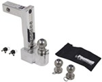 "Self-Locking, Adjustable, Aluminum Ball Mount - 3 Stainless Balls, 10"" Drop, 11"" Rise, 12K"