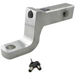 "Self-Locking, Aluminum Ball Mount - 4"" Drop, 3"" Rise - Anti-Rattle Tensioned - 14,000 lbs"