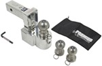 "Solid-Tow Adjustable, Aluminum Ball Mount - 3 Stainless Balls - 4"" Drop, 5"" Rise - 12K"
