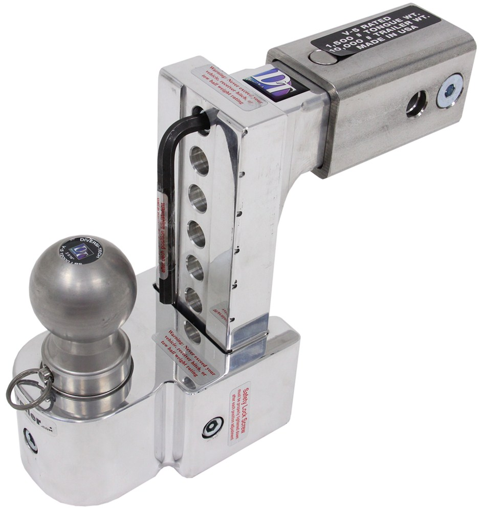 Solid Tow Adjustable Aluminum Ball Mount 3 Stainless
