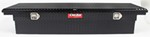 DeeZee Red Label Truck Bed Toolbox - Low-Profile, Crossover Style - Alum - 8 Cu Ft - Black