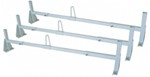 DeeZee Contractor Steel Van Rack - White - 3 Bar - Square - 800 lbs
