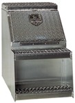 DeeZee Heavy Truck Series Medium, Underbody, Side-Step Toolbox - Aluminum - 5.9 Cu Ft - Silver