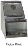 DeeZee Heavy Truck Series Large, Underbody, Side-Step Toolbox - Aluminum - 7.3 Cu Ft - Silver
