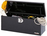 DeeZee Specialty Series ATV Toolbox - Utility Chest Style - Aluminum - 3 Cu Ft - Black