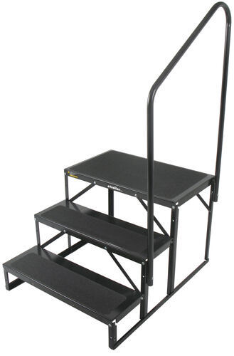 Econo Porch Trailer Step With Handrail And Landing