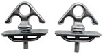 Erickson Stake Pocket Tie-Down Anchors - Chrome-Plated Steel - 2,000 lbs - Qty 2