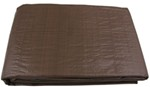 Erickson Brown/Green Reversible Tarp, 10 x 10 Weave - 8' x 10'