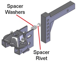 Controlling head tilt with traditional washer method