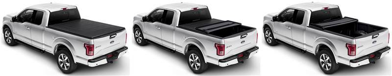 Trifecta 2.0 Tonneau Cover closed-opened