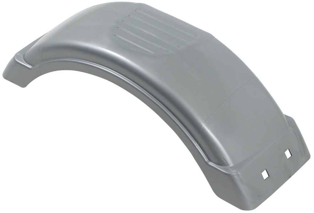 Plastic Fenders For Trailers : Single axle trailer fender w top step style c silver