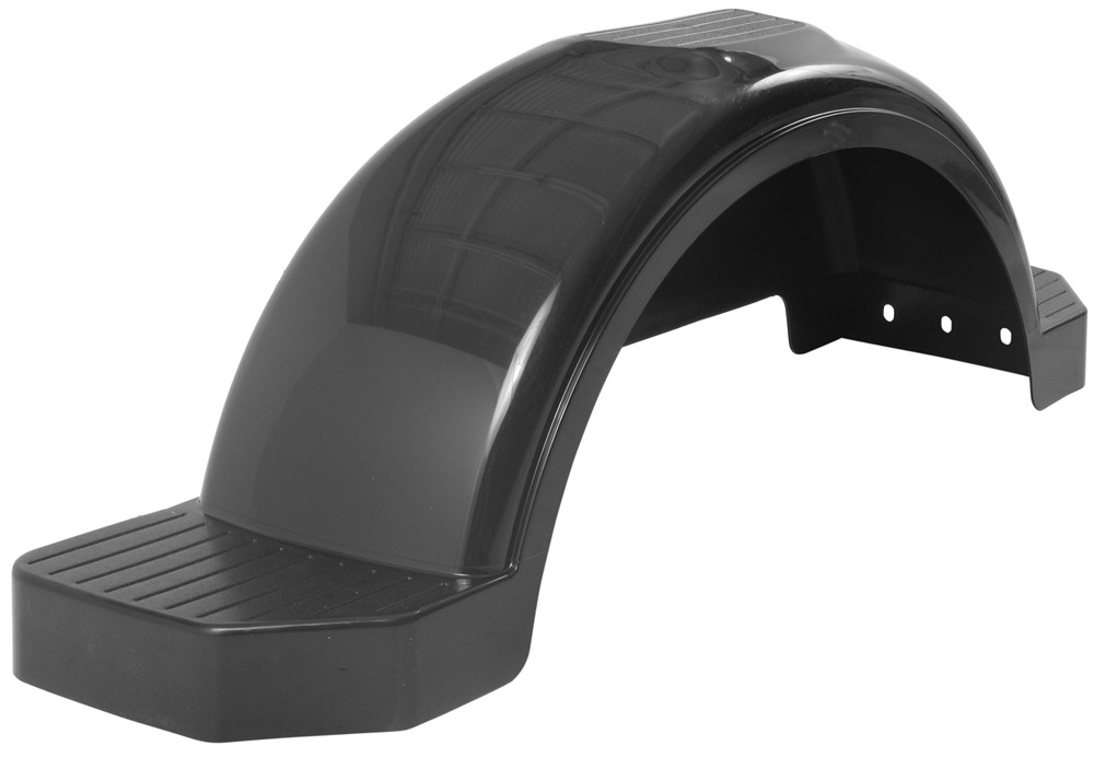 Plastic Fenders For Trailers : Fulton single axle trailer fender with top and side steps