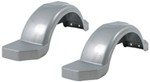"Fulton Plastic Fenders with Top and Side Steps - Silver - 14"" Tires - Qty 2"