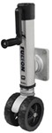 "Fulton F2 Swing-Up Trailer Jack for 4 x 5 Frames - 7"" Dual Wheel - Weld On - 1,600 lbs"