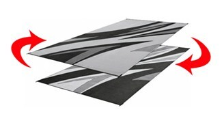 Faulkner Rv Mat Summer Waves Black And White 8 X 20