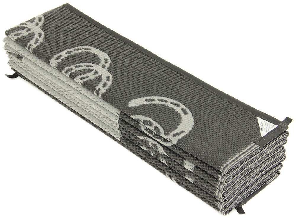 Faulkner Rv Mat Wild Mustang Black And Silver 9 X