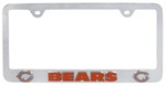 Chicago Bears NFL 3-D License Plate Frame - Chrome-Plated Steel