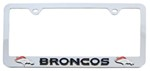 Denver Broncos NFL 3-D License Plate Frame - Chrome-Plated Steel