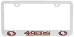 San Francisco 49ers NFL 3-D License Plate Frame - Chrome-Plated Steel