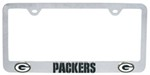 Green Bay Packers NFL 3-D License Plate Frame - Chrome-Plated Steel