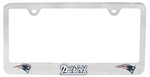 New England Patriots NFL 3-D License Plate Frame - Chrome-Plated Steel