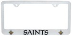 New Orleans Saints NFL 3-D License Plate Frame - Chrome-Plated Steel