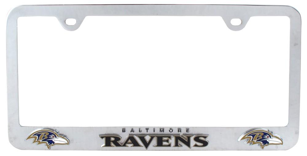 Baltimore Ravens Black Glitter License Plate Frame