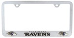 Baltimore Ravens NFL 3-D License Plate Frame - Chrome-Plated Steel