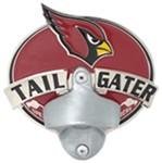 "Arizona Cardinals NFL Tailgater Hitch Cover with Bottle Opener - 1-1/4"" and 2"" Hitches"